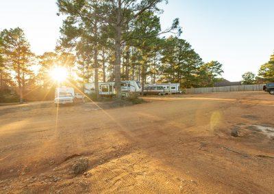 Bastrop Texas sunset at the RV park