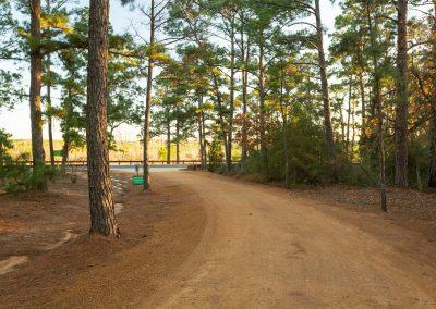 RV park entrance The Pines at Bastrop RV Park