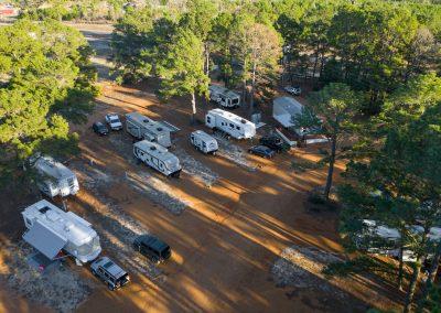 Bastrop, Texas RV Park Aerial Overview